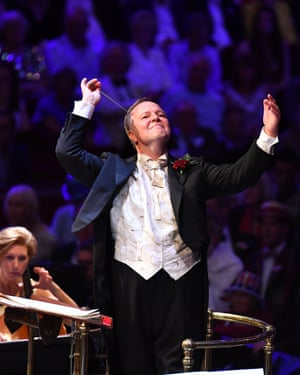 BBC Symphony Orchestra's chief conductor Sakari Oramo at the Last Night of the Proms