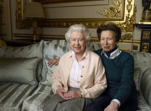 The Queen with her daughter, princess Anne