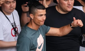 Cristiano Ronaldo in Italy after signing for Juventus.
