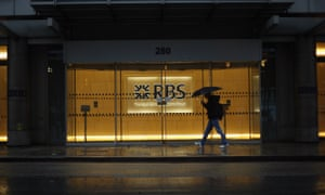 A branch of RBS in the rain