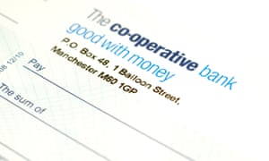 A Co-op Bank chequebook