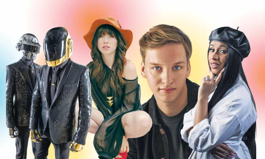 Sounds of summer (from left): Daft Punk, Carly Rae Jepsen, George Ezra and Cardi B Composite:
