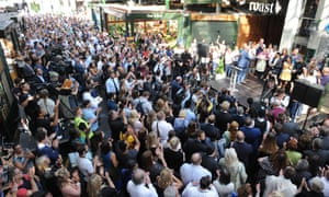 Crowds at Borough Market's reopening ceremony.
