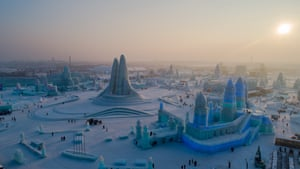 The 21st Harbin Ice and snow world, the world's largest ice and snow theme park, begins in Harbin, Heilongjiang Province, China.