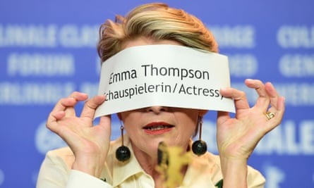 Message movie ... Emma Thompson at the press conference for Alone in Berlin at the Berlin film festival