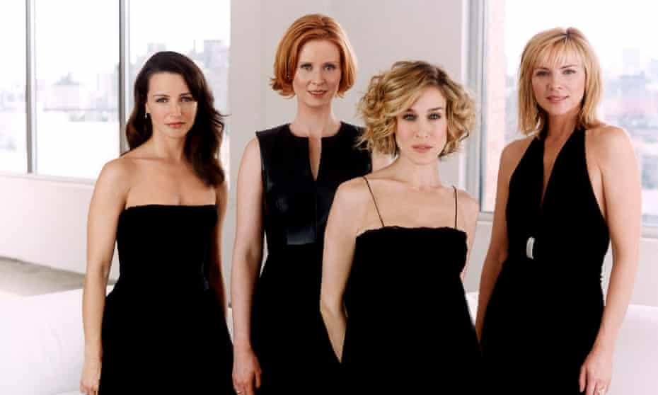 Anchors Away Sex and the City Yr 5 Group Shot - Charlotte (Kristin Davis), Miranda (Cynthia Nixon), Carrie (Sarah Jessica Parker), Samantha (Kim Cattrall)