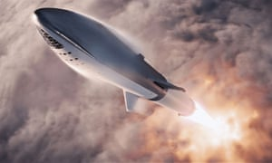An artist's impression of SpaceX's Big Falcon Rocket.