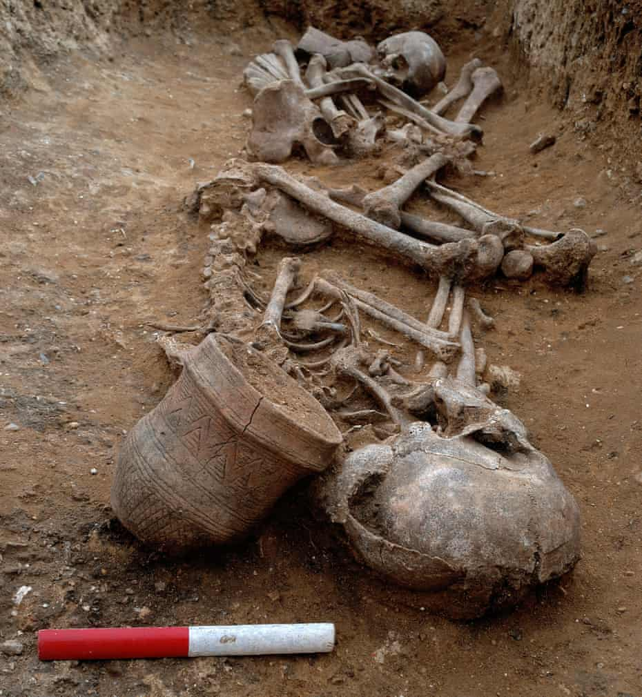The grave of a 16–18 year-old female and a 17–20 year-old male dating to c.2000-1950 BC. Both are buried with a fineware beaker.
