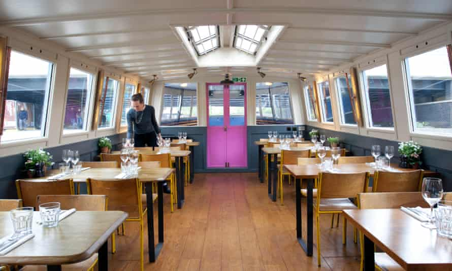 the converted barge that is home to the London Shell Co.