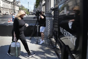 London, England Penny Mordaunt arrives at parliament. The government faces a potentially significant rebellion against its plan to allow MPs to participate in Commons debates and votes only in person