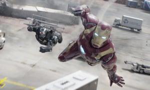 Dodging the bullet? … War Machine with Iron Man.