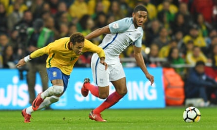 Joe Gomez stood up to the task of shackling Brazil's Neymar admirably in what was his first start for England.