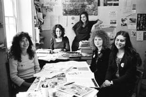 The team in 1974 … from left, Marsha Rowe, Rosie Parker, Rose Ades, Marion Fudger, Ann Scott.