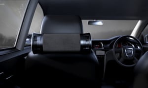 Clean air act: the airbbubl air attaches to the back of a headrest.