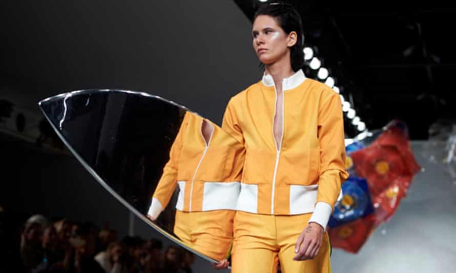 A model on the catwalk for Fyodor Golan.