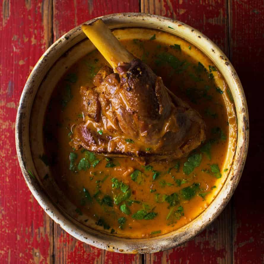 Oven Braised Lamb Shank Rogan josh Vivek Singh