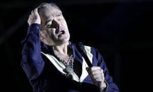 Morrissey on stage at the Primavera Fauna 2015 Music Festival in Santiago De Chile, Chile.