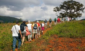 Tourists exploring the Vinales Valley