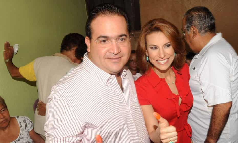 In 2016, Javier Duarte, left, went on the run in a government helicopter. The current governor says Macías, right, was a key player in the fraud racket.