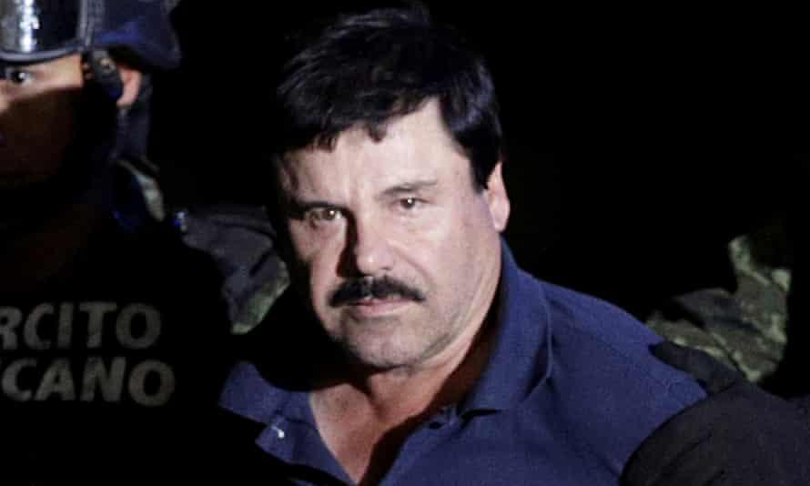 'El Chapo' Guzman is escorted by soldiers in Mexico City in 2016.
