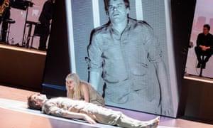 Michael C Hall and Sophia Anne Caruso in Lazarus at King's Cross theatre