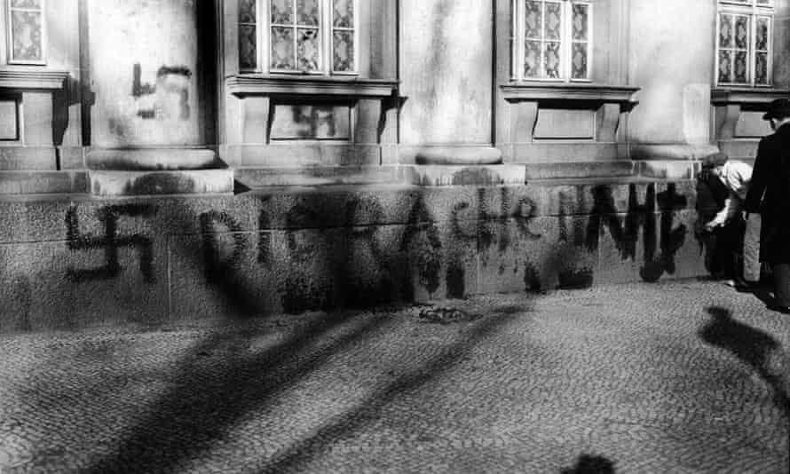 'Kristallnacht' in Nazi Germany and Austria in 1938