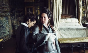 Rachel Weisz, left, with Olivia Colman in The Favourite