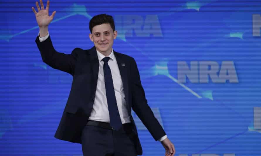 Kyle Kashuv, a survivor of the Parkland shooting, speaks at the National Rifle Association Institute for Legislative Action Leadership Forum in Indianapolis in April.