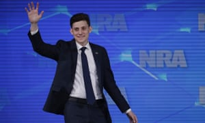 Kyle Kashuv, a survivor of the Marjory Stoneman Douglas High School shooting in Parkland, Fla., speaks at the National Rifle Association. On Monday, Harvard University revoked his acceptance over racist comments he made online about two years ago.