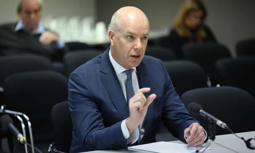 Fairfax CEO Greg Hywood answers questions during the Senate communications committee public hearing in Sydney on Monday.