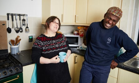 Nightstop volunteer host Helen with Stan who she put up when he was homeless.