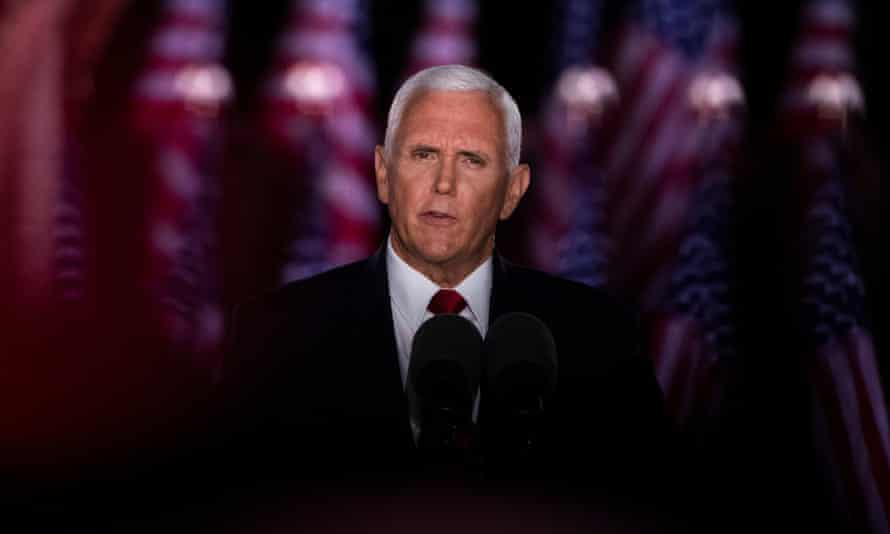Vice president Mike Pence said that violence and mayhem that would ensue under a Democratic administration, on the third night of the Republican national convention.