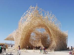 Uchronia at Burning Man, Black Rock Desert, NV, USA, Arne Quinze, 2006
