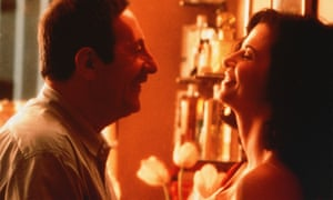 Jean Rochefort and Anna Galiena in The Hairdresser's Husband, 1990.