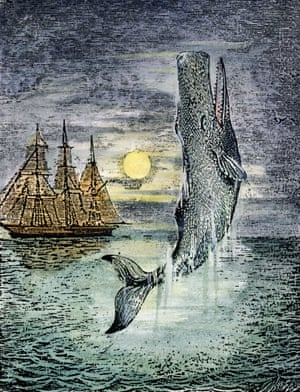 A late 19th-century wood engraving – the only known image of Moby-Dick drawn during Herman Melville's lifetime.