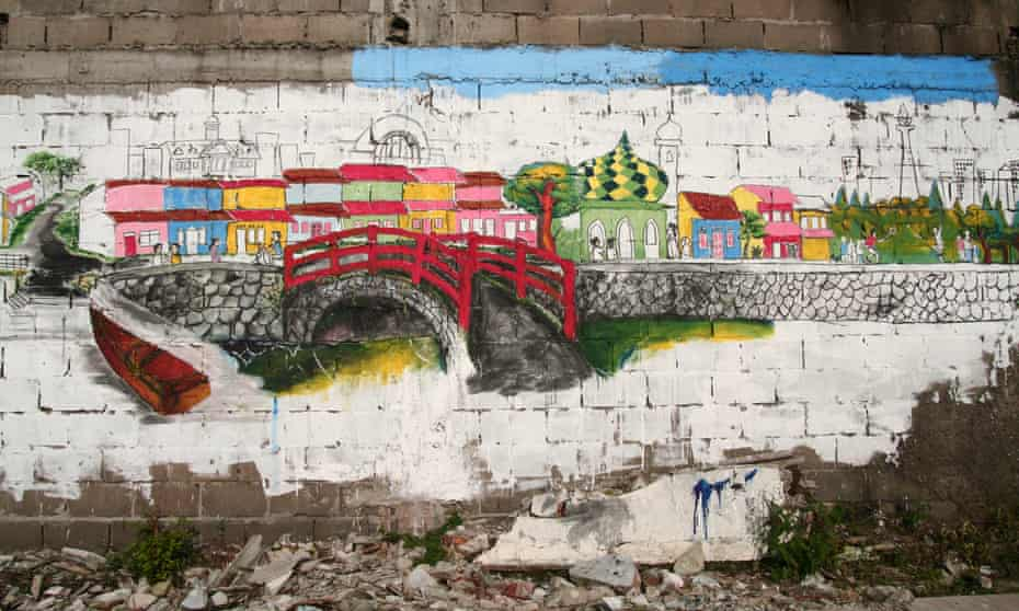 One of the murals painted by the community in Tongkol.