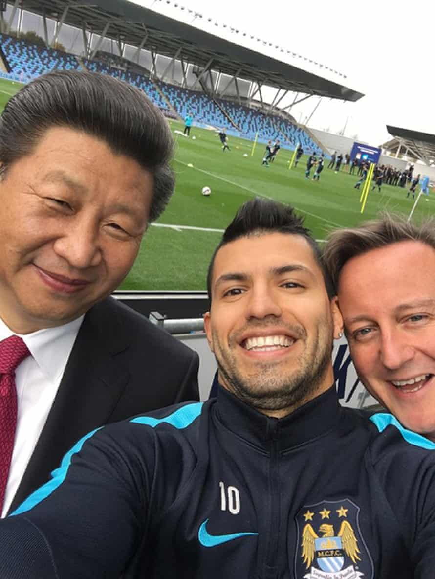 There was even time for a selfie with Manchester City player Sergio Aguero.