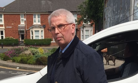 The former football coach John Marshall arrives at court on Wednesday.