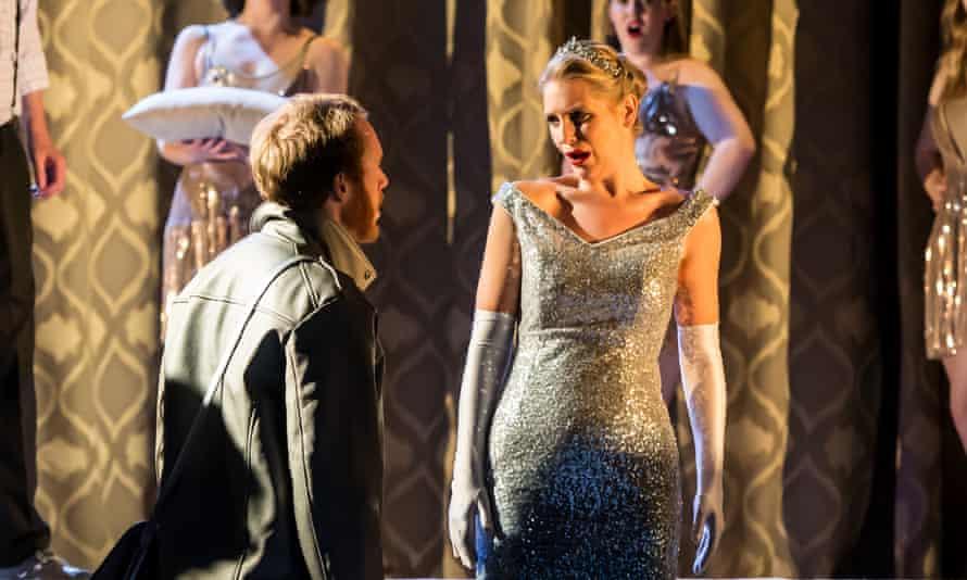 Oliver Johnston as Paris and Ellie Laugharne as Hélène in La Belle Hélène at Blackheath Halls.
