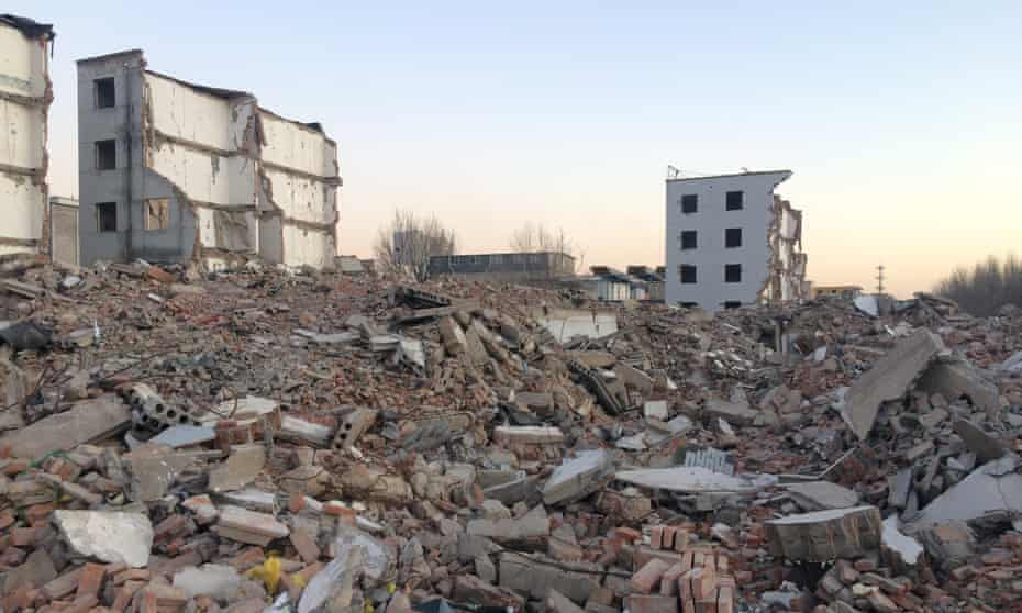 Scenes of destruction in northwestern Beijing