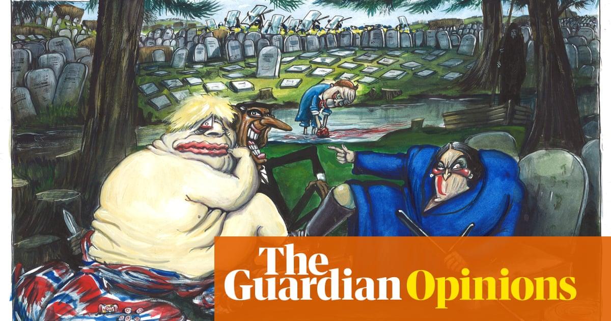 Martin Rowson on easing England's Covid lockdown - cartoon