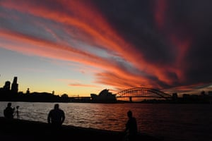 Sydney, AustraliaThe Sydney Opera House and Sydney Harbour Bride are seen during a sunset