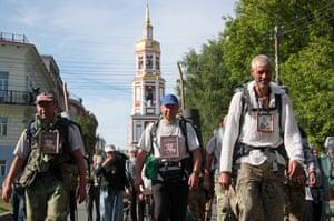 Pilgrims return to the city of Kirov