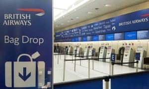 A British Airways check-in