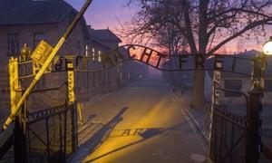 'Today it's a tourist destination' … the gates of Auschwitz concentration camp.