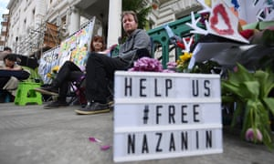 Richard Ratcliffe on hunger strike outside the Iranian embassy in London