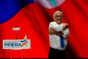 Santiago, Chile Presidential candidate Sebastian Pinera