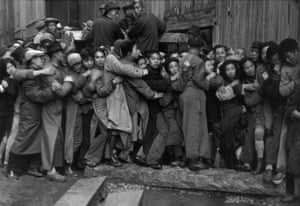 Gold Rush. At the end of the day, scrambles in front of a bank to buy gold. The last days of Kuomintang, Shanghai, 23 December 1948