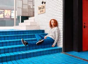 Man sitting on steps