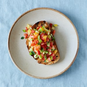 Russell Norman's tomato and oregano bruschetta.
